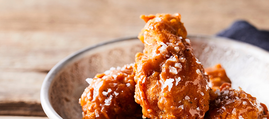 spicy caramel chicken wings