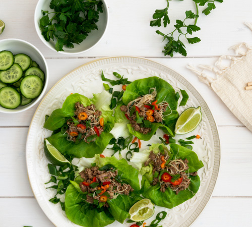 asian lettuce wraps with beef