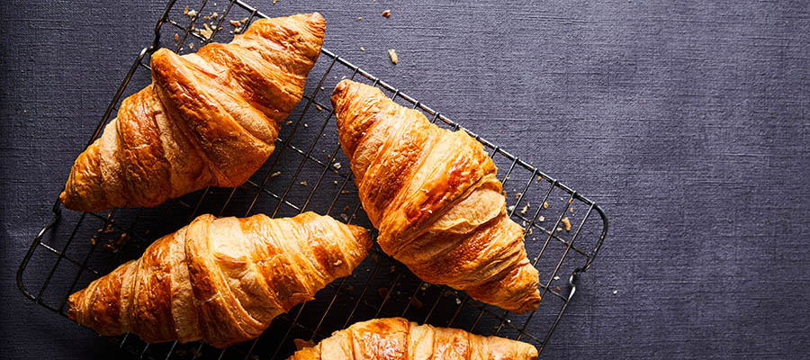 4 croissants cooling off