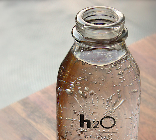bottle of water with functional ingredients