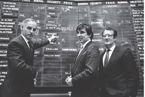 Kerry in the 1980s. A black and white photograph of Kerry staff in the 1980s.